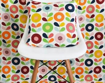 Swedish Scandinavian fabric - Per metre - Multi Stem Flowers