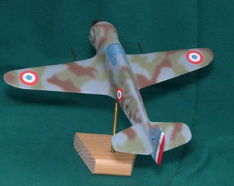Model airplane Bloch MB52 C1 made and hand painted solid wood