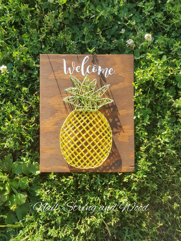 Pineapple String Art Pineapple Decor Pineapple Teaching