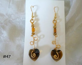 Clearance Sale: Dangle Earrings of all Different Types, Five Different Pairs on Each Listing E46-50