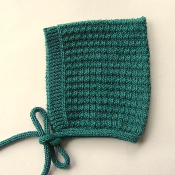 Pine Baby Pixie Hat in Green Merino Wool - Sizes Newborn to Age 24 months - Pre-Order