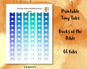 Printable Bible Tabs // Bible Tabs // Bible Study // Bible Journaling // Tabs for Bible // Bible Journaling Printable // Books of the Bible
