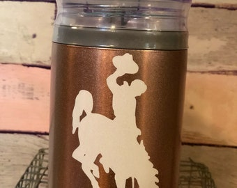 Rose Gold l/White Glitter Steamboat Swig Steel Combo 12 oz. Can Cooler