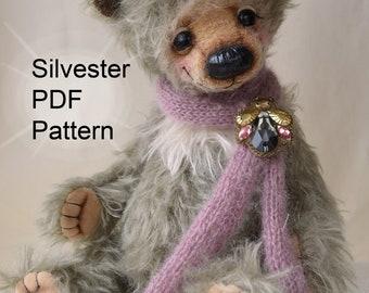 PDF Teddy bear pattern, 13 inches (33 cm) + Gift