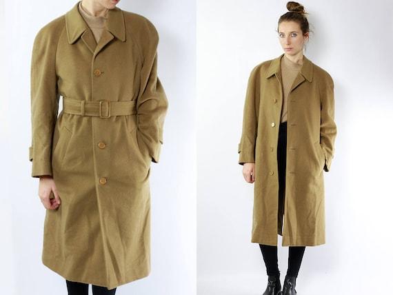YSL Trench Coat / YSL Coat / camel Coat / Saint Laurent Coat /  Beige Trench Coat / Wool Coat / Cashmere Coat / Yves Saint Laurent