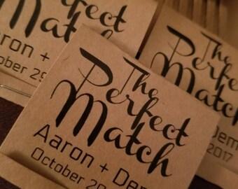 50 The Perfect Match wedding favors. Match wedding favors. Wedding favors. Engagement wedding favors. Anniversary favors.