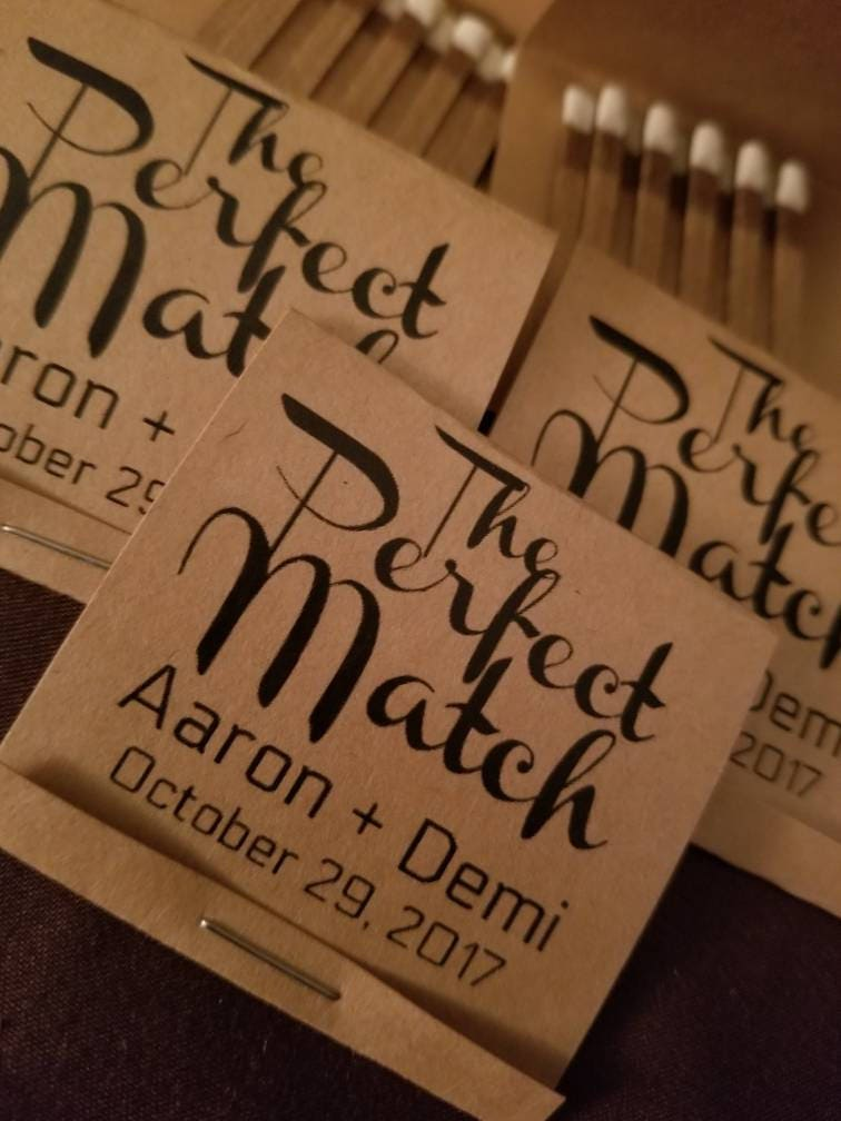 50 The Perfect Match Wedding Favors Match Wedding Favors