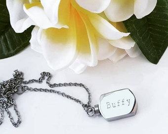Stainless Steel Personalised Memory Pendant Necklace