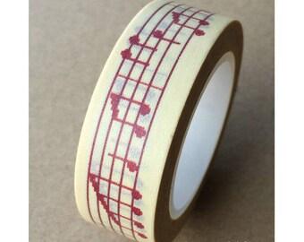 Washi tape (washi) - music Notes