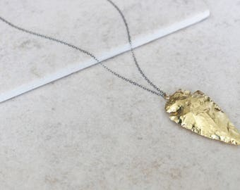 Dipped Arrowhead Necklace - Bohemian Layering Jewelry - Rose Gold, Silver or Gold