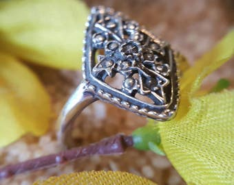 Sterling Silver Beaded Ring (st - 1979)