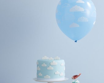 Cloud Decorated Balloons