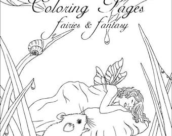 Märchen & Fantasy Coloring Page Set - Kunst von Rachel Anderson