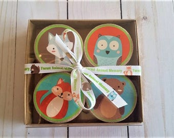 Memory Match Game - Forest Animal Game - Educational Toy - Montessori - Preschool teaching