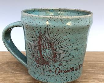 Handmade ceramic mug (Lord's Prayer)