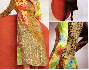 OOP Designer Vogue 2713 Paneled Dress Pattern - Designed by Koos Van Den Akker - Multiple Sizes UNCUT FF