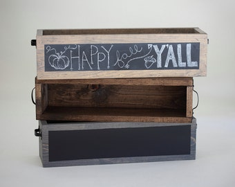 Rustic Chalkboard Wood Box Wedding Decor- Table Decor Box- Great for all Seasons!