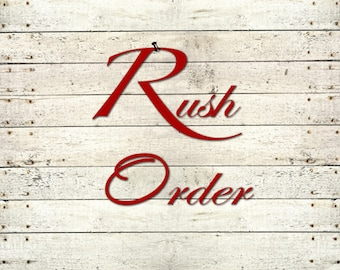 RUSH ORDER FEE- Production time 1-3 business days