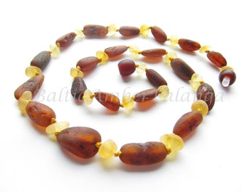 Raw Unpolished Baltic Amber Necklace For Adults