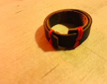 Double Stacked: Wrapped Leather Ring