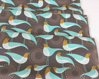 By 1/2 Yard ~ Modernist Perch Smoke Color, Designed by Joel Dewberry for Free Spirit Fabrics, Cotton Quilt Fabric