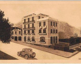 French Original Postcard - The 50's - Terminus Hotel France - Vintage Art Deco