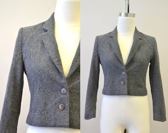 1980s Gray Wool Jacket
