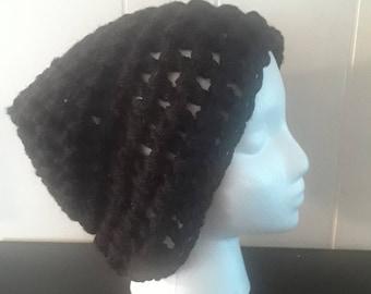 Black Loose Knit Beanie