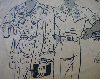 Fabulous Vintage 30's A Delineator Syle Butterick Pattern Misses FROCK And JACKET FROCK