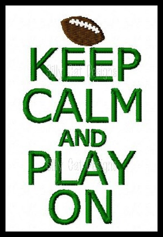 Keep Calm and Play On Machine Embroidery Design
