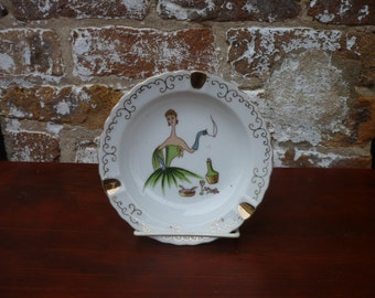 Lady with Cigarette Ash Tray, made in Japan