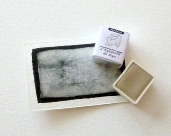 White with Meudon _Handmade_ hand made watercolor 1/2 cup