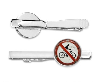 Vintage Bicycle Sign Tie Clip