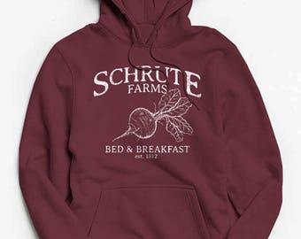 Schrute Farms Hoodie - The Office Sweatshirt - Dwight Schrute - Sweater - Bears Beets Battlestar Galactica - Michael Scott - Jim Halpert
