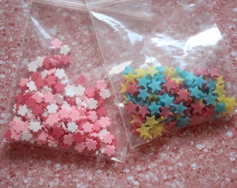 Crafting Sprinkles - 2 piece set flowers and stars