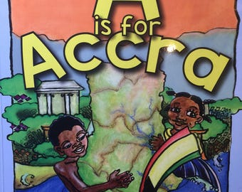 African Childrens Book - Stocking Gift-A Is For Accra - Learnig Book - Cultural Book - Ghanian Book - African Book - African A-Z - Kids Book