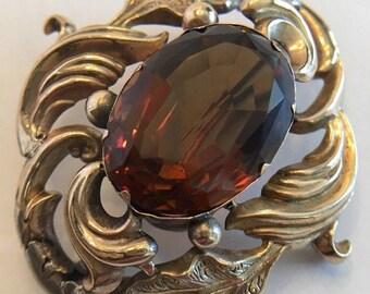 Vintage Georgian 9k Gold Brooch, Pin, Pendant.