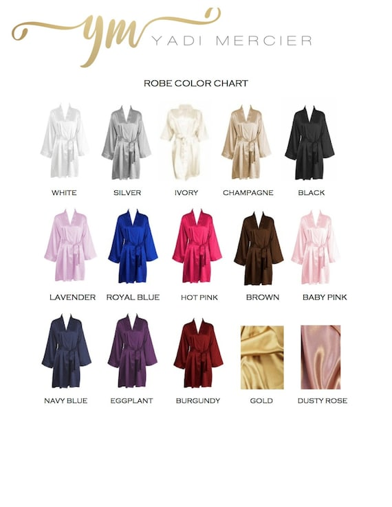 7 Set Silk Robes Bridesmaid Bridesmaids Silk Party Bridesmaid Satin Bridal Robe Robes Party Robes Gifts Wedding of Monogrammed Robes qt5f5