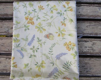 Vintage Pillow Case/Slip - Orange, Green, Purple and Yellow - Floral - 1970's
