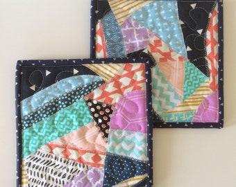 Set of patchwork potholders