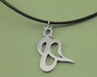 Angel pendant, Guardian Angel Silver Pendant for Good Luck and Protection, jewel, jewelry