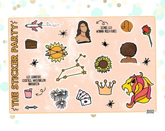 LEO'S Favorite Things | Zodiac Leo Planner Stickers