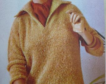 1960's Vintage Knitting PDF Pattern Women's Sweater 441