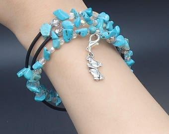 Turquoise bracelet, bracelet, bracelet, memory wire, memory wire bracelet, unisex jewelry, gemstone jewelry, charm bracelet