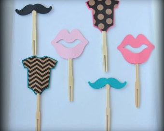 Lips & Staches Toppers