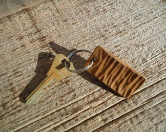 Carved wood key chain, Wooden key chain, Maple wood key chain, Wood carving, Wood key chain, Rustic key chain,