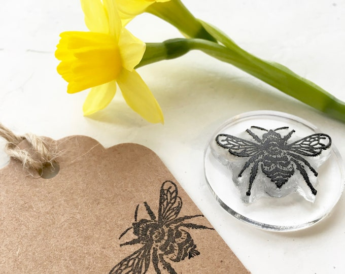 Bumble Bee Rubber Stamp - Bumblebee Stamp - HoneyBee - Bumble Bee - Bee Stamp - Clear Rubber Stamp - Stamp Store - Photopolymer Stamp