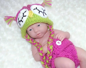 Newborn Photo Outfit Girl Owl - Full Set Same Price!!!