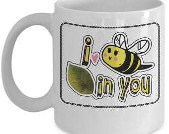 Funny Entrepreneurship Mug - I Bee Leaf In You (Believe) - Home Office Coffee Cup Gift