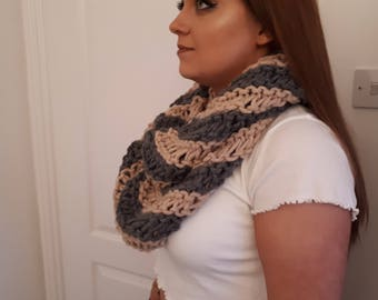 Hand knitted chunky wool snoods